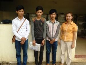 The boys with a JVC teacher